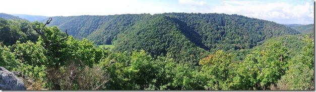 Traumpfad Eltzer Burgpanorama - Panoramablick ins Tal