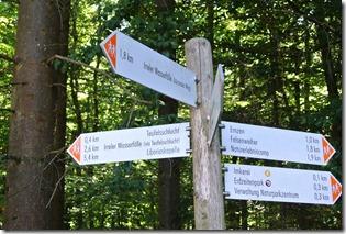 Teufelsschlucht Ernzen / Irrel, Wegweiser