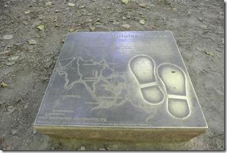 Teufelsschlucht Ernzen / Irrel, Bronzetafel am Eingang