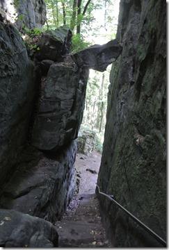 Teufelsschlucht Ernzen / Irrel - Abstieg mit Fels