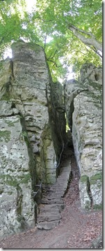 Teufelsschlucht Ernzen / Irrel - Ausgang der Teufelsschluch