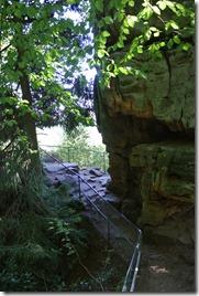 Teufelsschlucht Ernzen / Irrel - Gesicherter Weg zum Ausblickspunkt