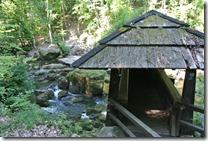 Teufelsschlucht Ernzen / Irrel - die Brücke über die Wasserfälle