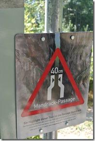 NaturWanderPark delux: Felsenweg 2 - Hinweis Andrackpassage
