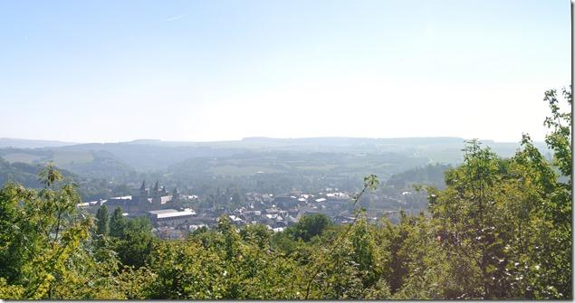 Blick vom Aussichtspunkt auf Echternach