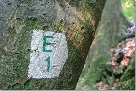 Wanderweglogo des E1