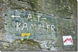 Rundwanderweg R8 - Hinweis auf die Altkammer