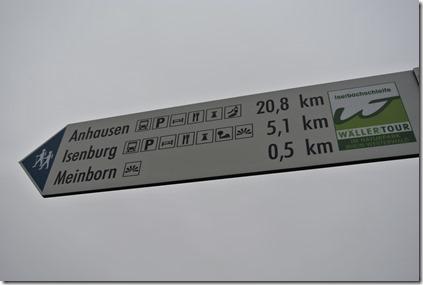 Wäller Tour Iserbachschleife - Entfernungsangaben