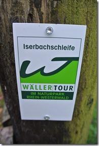 Wäller Tour Iserbachschleife - Wegmarkierung