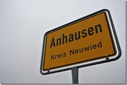 Wäller Tour Iserbachschleife - Ortschild Anhausen