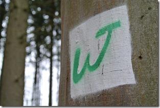 Wäller Tour Iserbachschleife - Gemalte Markierug