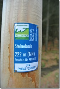 Wäller Tour Iserbachschleife - Höhenangabe
