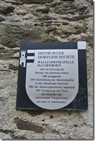 Wäller Tour Iserbachschleife - Kirchenruine Hinweistafel