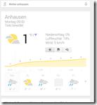 Wäller Tour Iserbachschleife - Wetteranzeige