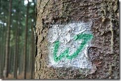Wäller Tour Eisenbachtal - gemalte Markierung