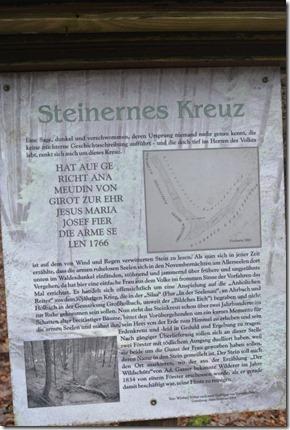 Wäller Tour Eisenbachtal - Hinweistafel Steinernes Kreuz