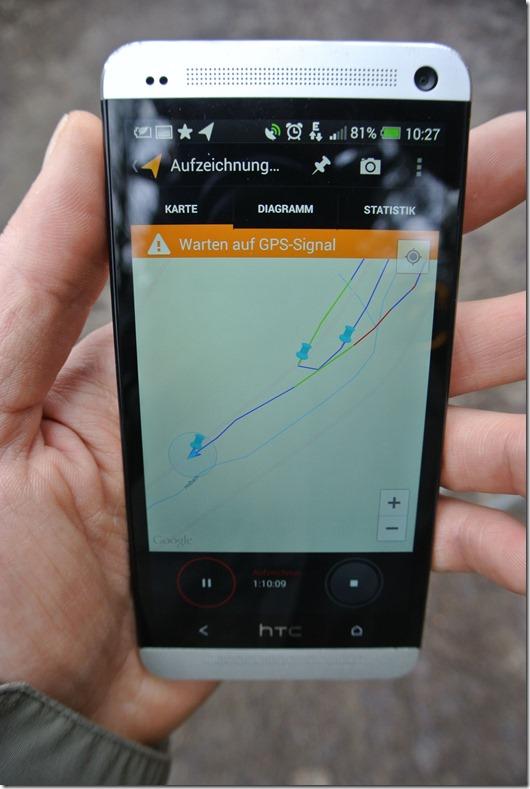Meine Tracks - HTC One im Einsatz