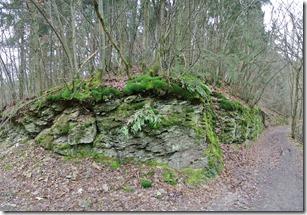 Wäller Tour Eisenbachtal - Felsen am Wegesrand