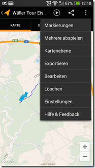 Meine Tracks - Screenshot 3