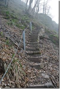 Moselsteig Etappe 18 - Treppe mit Sicherungsseil