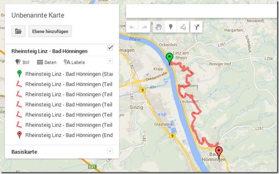 GPS Tracks zusammenführen - der erste Track