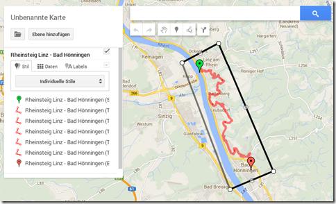 GPS Tracks zusammenführen - Rahmen