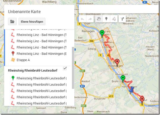 GPS Tracks zusammenführen - eine Karte, zwei Tracks