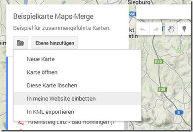GPS Tracks zusammenführen - Einbetten