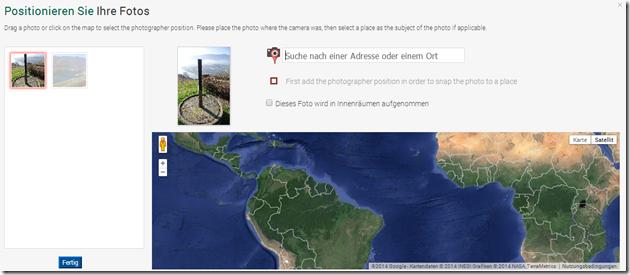 Google Maps / Panoramio - Fotoposition festlegen
