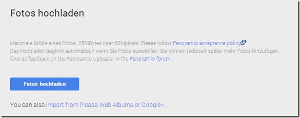 Google Maps / Panoramio - Bilder auswählen