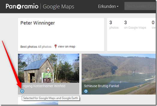Google Maps / Panoramio - Selected