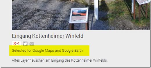 Google Maps / Panoramio - Fotos wurden ausgewählt