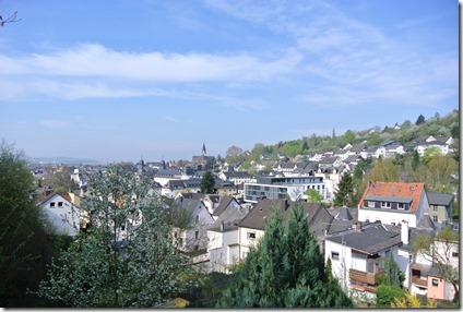 Rheinsteig Vallendar-Ehrenbereitstein - Blick auf Vallendar