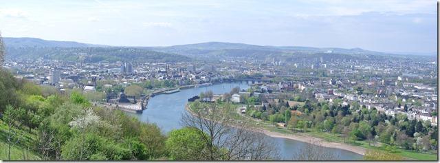 Rheinsteig Vallendar-Ehrenbereitstein - Koblenz Panorama 1