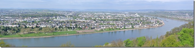 Rheinsteig Vallendar-Ehrenbereitstein - Koblenz Panorama 2