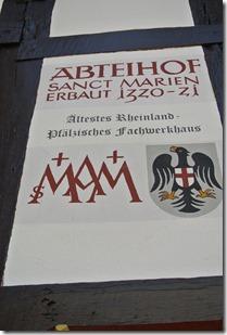 Moselsteig Etappe 23 - Abteihof Hinweisschild