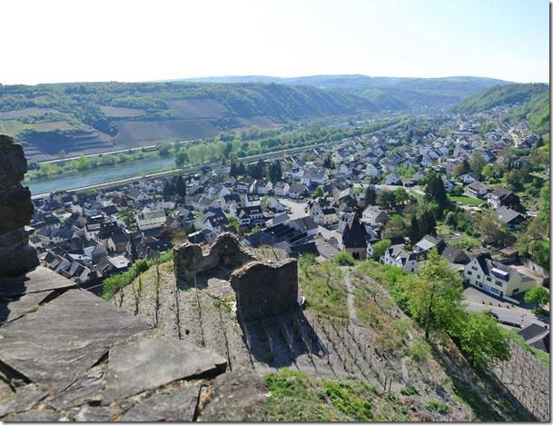 Moselsteig Etappe 23 - Blick auf Kobern-Gondorf