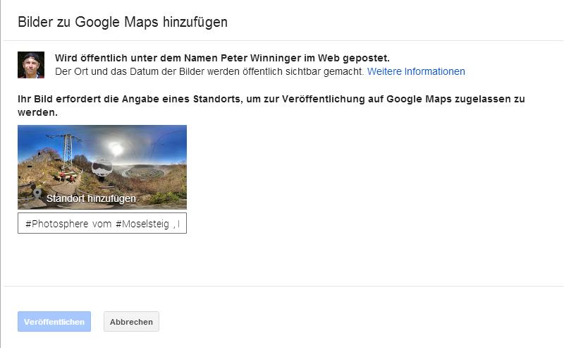 google maps howto wie man photo sphere bilder in google maps ver ffentlicht winni s blog. Black Bedroom Furniture Sets. Home Design Ideas
