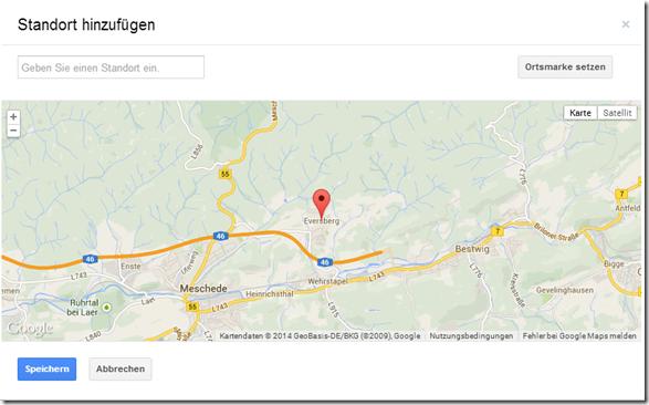 Photo Sphere in Google Maps - Standort hinzufügen