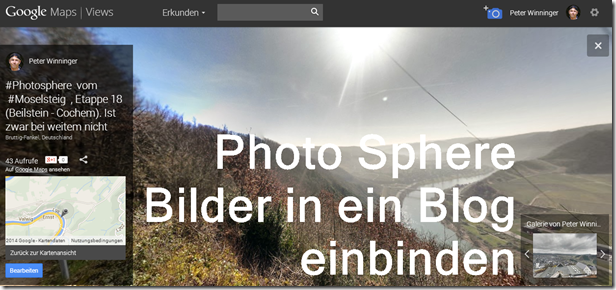 Photo Sphere im Blog - Teaser