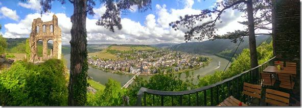 Moselsteig Traben-Trarbach - Reil - Grevenburg-Panorama