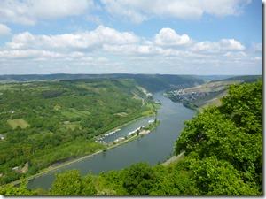 Moselsteig Traben-Trarbach - Reil - Blick ins Tal von der Starkenburg
