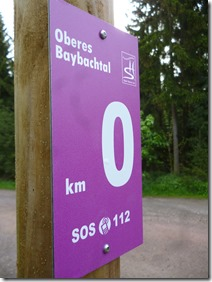 Traumschleife Oberes Baybachtal - Kilometertafel