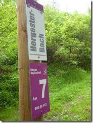 Traumschleife Oberes Baybachtal - Hinweisschild 1