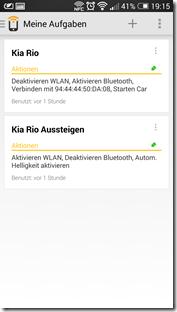 HTC One NFC Tags - Trigger: Aufgabenübersicht