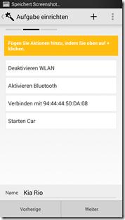 HTC One NFC Tags - Trigger: Einzelne Aufgaben
