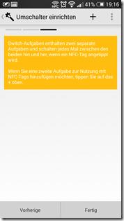HTC One NFC Tags - Trigger: Umschalten