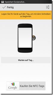HTC One NFC Tags - Trigger: Tag beschreiben