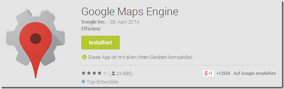 Google Maps Engine - Play Store