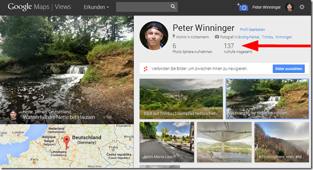 Google Maps Views - Screenshoot Profil